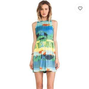 NWOT BB Dakota Cyan Aquarium Printed Dress 0